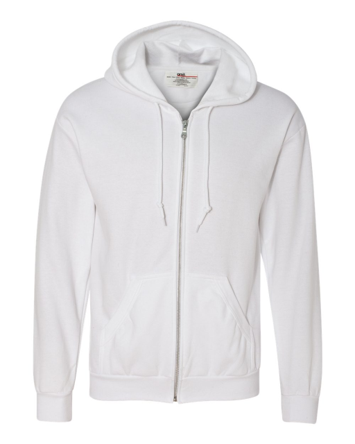 Combed Ringspun Fashion Full-Zip Hooded Sweatshirt
