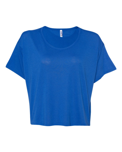 Ladies' Flowy Boxy Cropped Crewneck T-Shirt