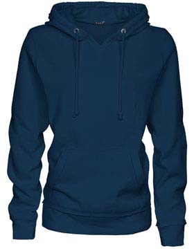 Enza Ladies V-Notch Fleece Hoodie