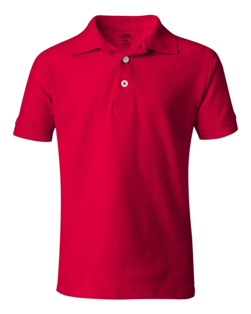 Youth Husky Short Sleeve Pique Polo