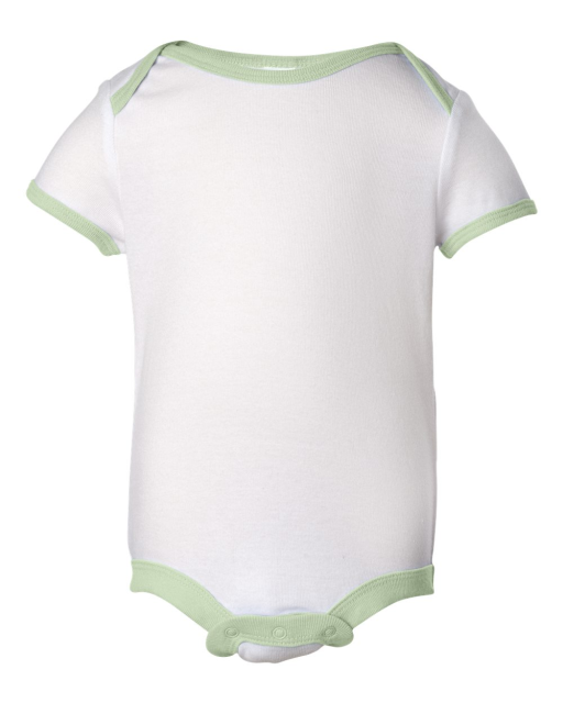 Infant Baby Rib Creeper with Contrast Color Binding