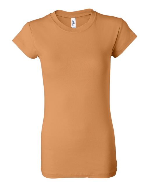 Ladies' Sheer Mini Rib Short Sleeve Longer Length T-Shirt
