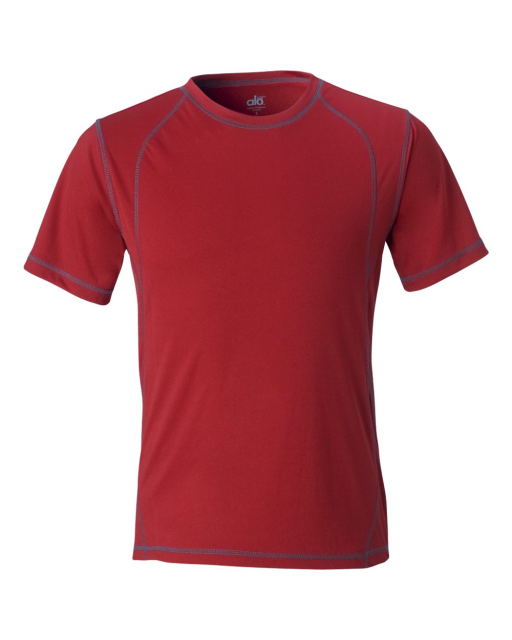 Short Sleeve Pieced Interlock T-Shirt