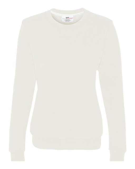 Ladies' Combed Ringspun Fashion Crewneck Sweatshirt