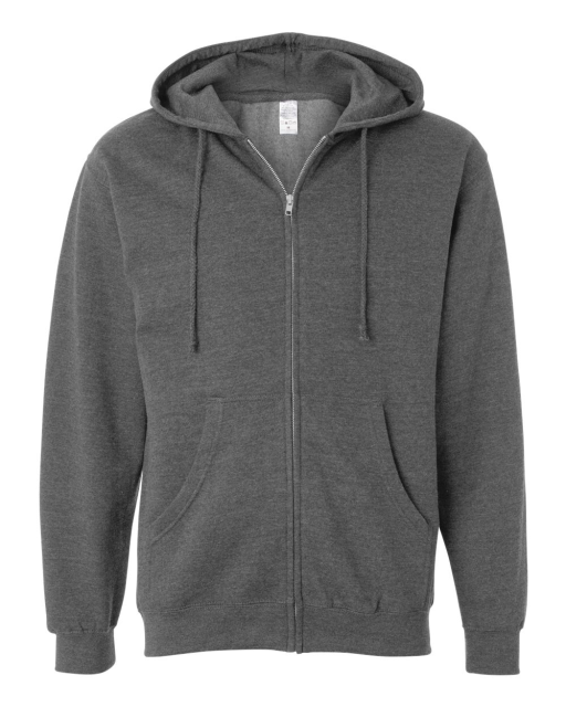 Midweight Full-Zip Hooded Sweatshirt