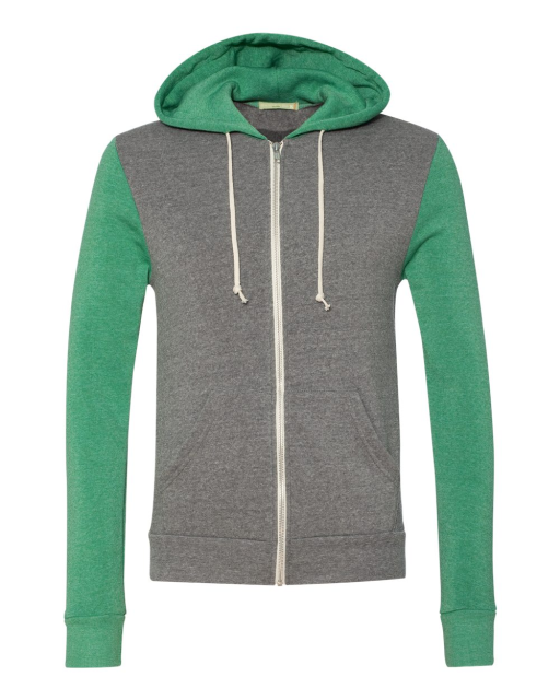 Rocky Unisex Colorblocked Eco Fleece Hooded Full-Zip