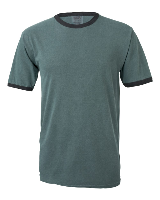 Pigment-Dyed Enzyme Washed Ringer T-Shirt