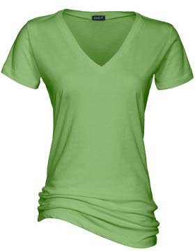 Ladies Essential Short Sleeve ''True V'' Neck Tee