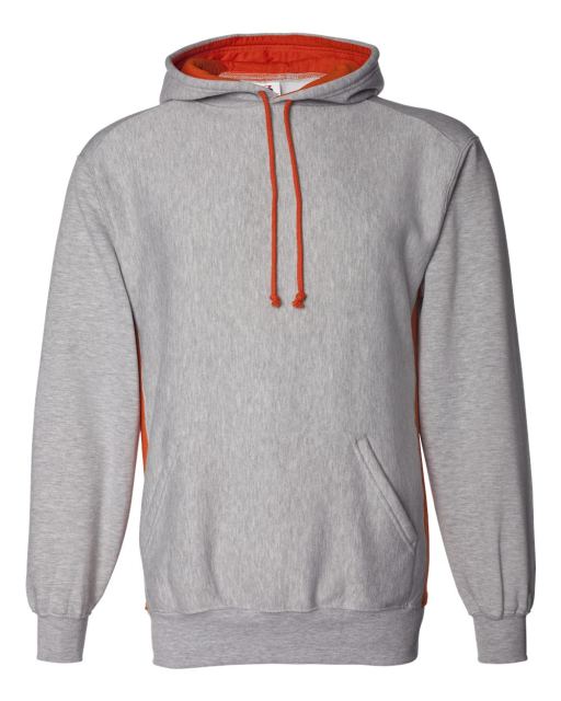 Contrast Color Underarm Hooded Sweatshirt
