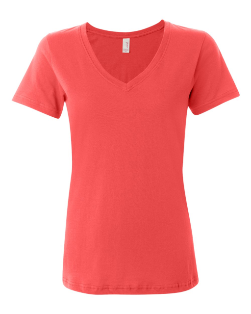 Ladies' Semi-Sheer V-Neck T-Shirt
