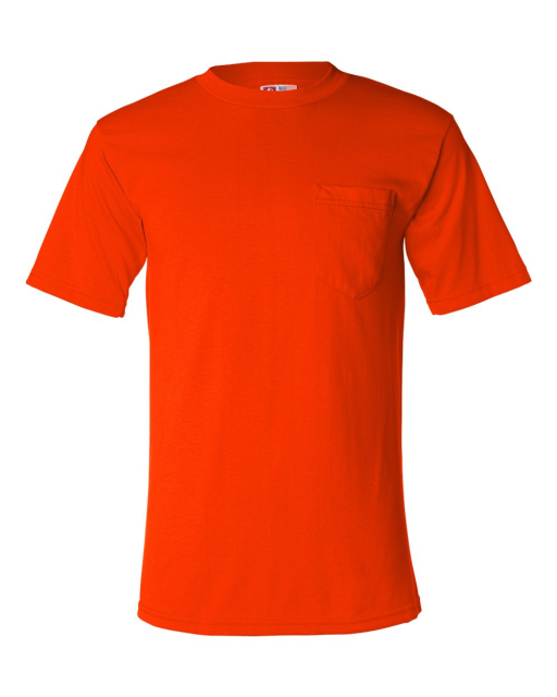 USA-Made 50/50 Short Sleeve T-Shirt with a Pocket