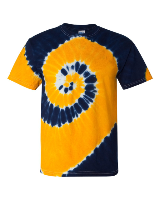 Two-Color Spiral Short Sleeve T-Shirt