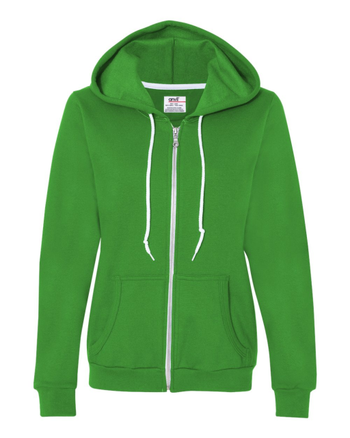 Ladies' Combed Ringspun Fashion Full-Zip Hooded Sweatshirt