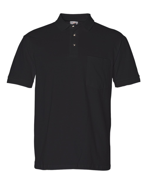 Ringspun Cotton Pique Sport Shirt with a Pocket