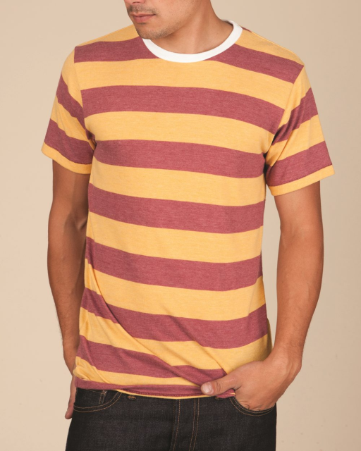 Eco Jersey Ugly Stripe Short Sleeve T-Shirt