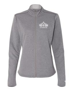 Ladies' Colorblocked Performance Full-Zip Sweatshirt