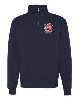 Quarter-Zip Cadet Collar Sweatshirt
