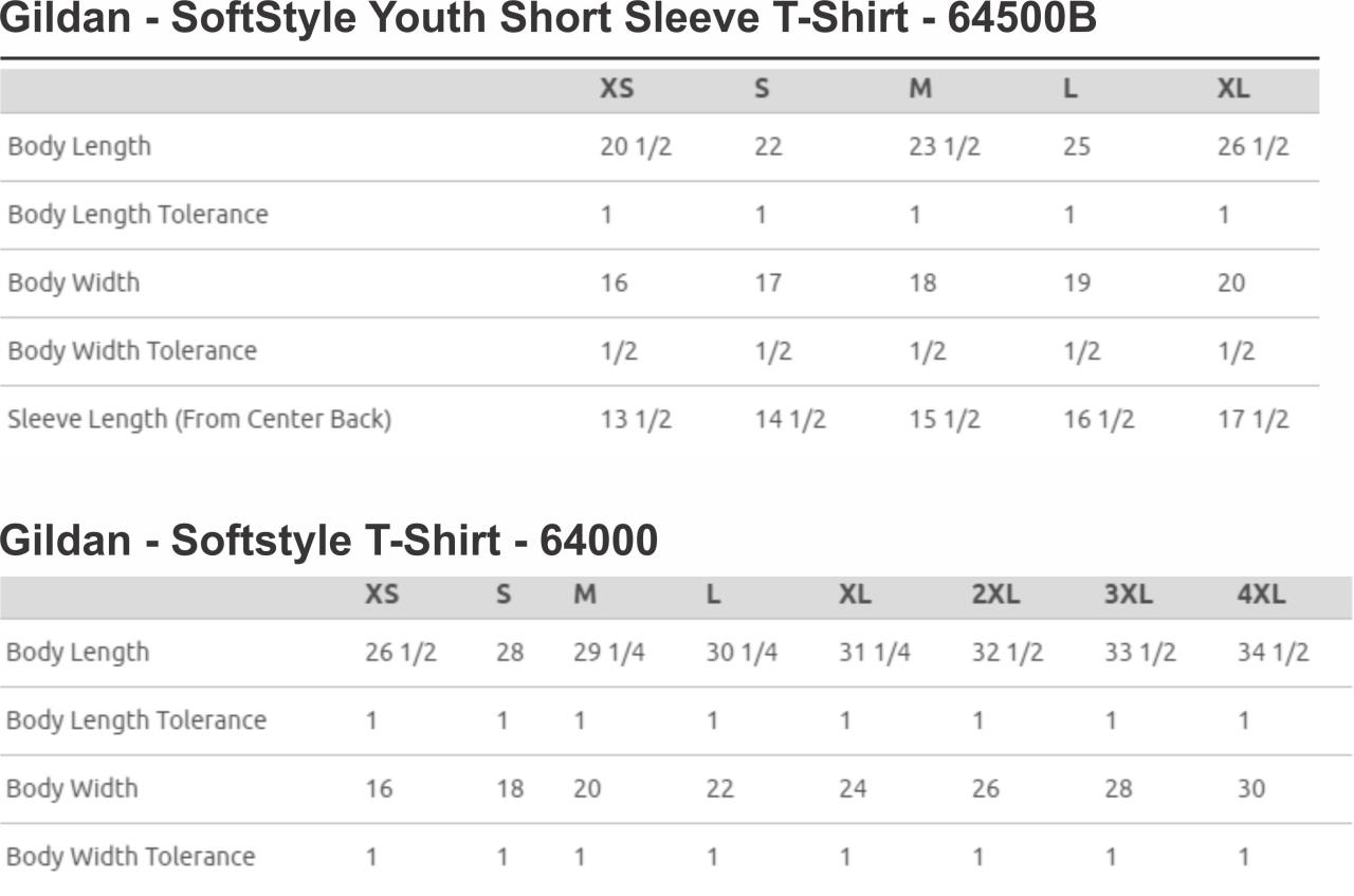 Youth & Adult Short Sleeve Tee